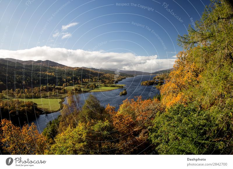The Queens View Pitlochry Perthshire Scotland Island Waves Nature Landscape Water Clouds Autumn Tree Leaf Forest Hill Lake Blue Green White Loch Tummel glencoe