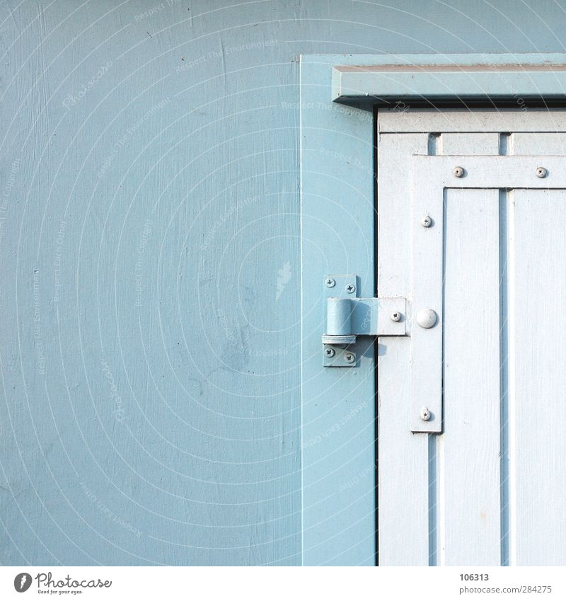 Blue Wall (building) Wall (barrier) Door Closed Illuminate Protection Gate Entrance Section of image Storage Garage Front door Paintwork Hinge Metal fitting
