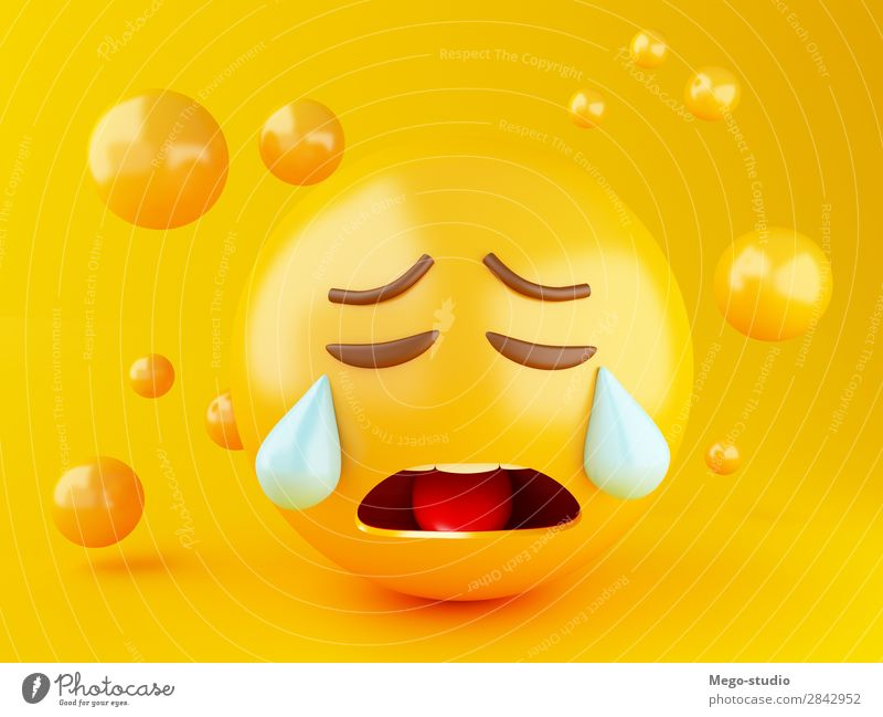 3d Emoji icons Joy Face Yellow Sadness Funny Emotions Laughter Happy Friendship Design Glittering Smiling Happiness Mouth Cute Illustration