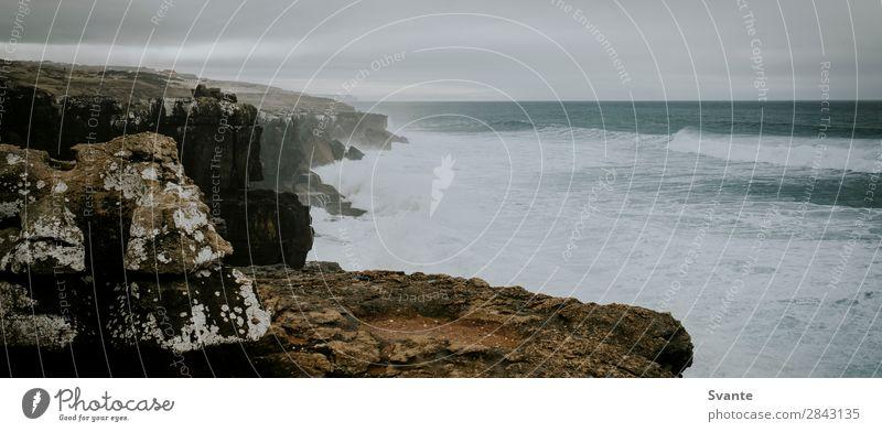 Coastline at Ericeira, Portugal Vacation & Travel Tourism Trip Far-off places Ocean Waves Landscape Elements Water Rock Atlantic Ocean Wild Power Vantage point