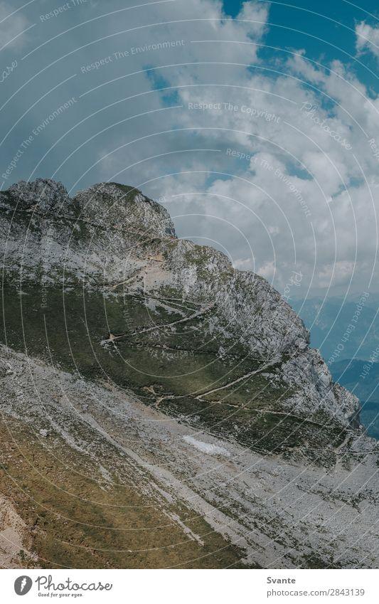 Mountain path Vacation & Travel Tourism Adventure Far-off places Hiking Landscape Clouds Summer Alps Peak Chalk alps Austria Bavaria Road traffic Steep