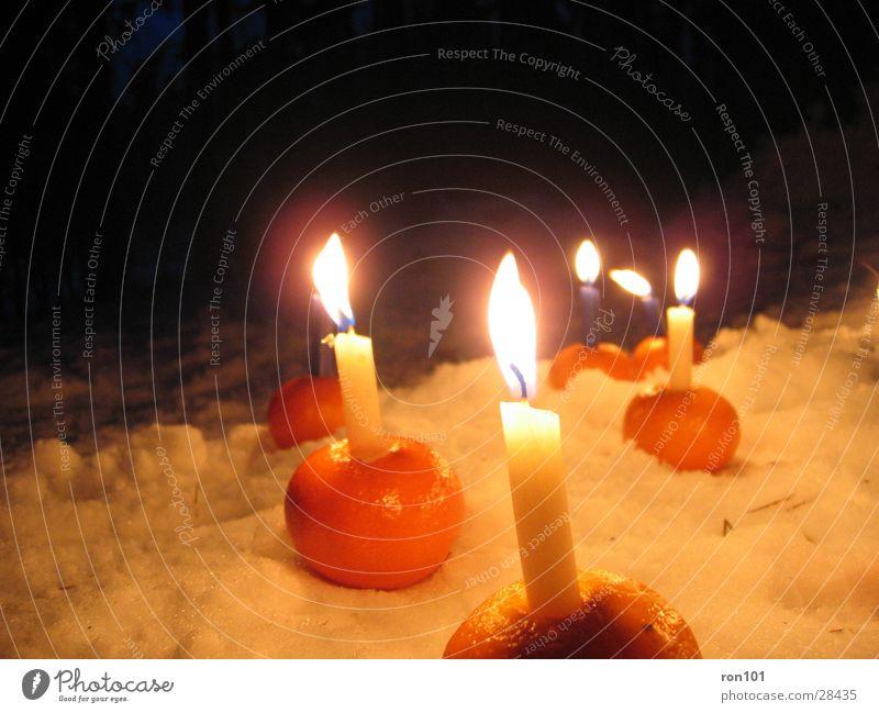 Snow Bright Orange Blaze Candle Flame Tangerine