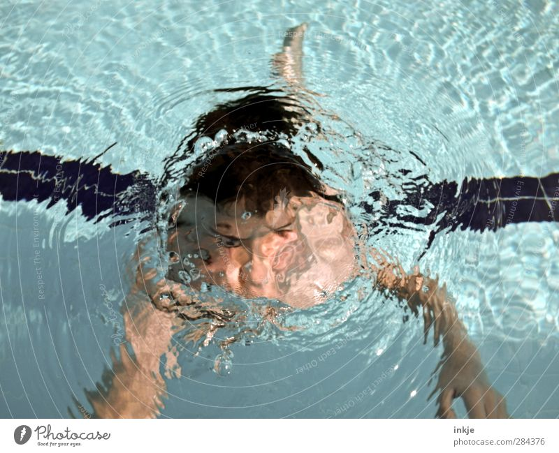 Human being Child Blue Vacation & Travel Water Summer Joy Face Life Boy (child) Air Swimming & Bathing Body Infancy Leisure and hobbies Wet