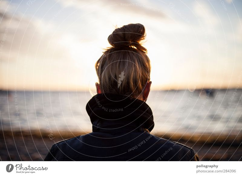 Human being Woman Sky Youth (Young adults) Vacation & Travel Water Summer Sun Ocean Beach Clouds Adults Far-off places Young woman Feminine Life