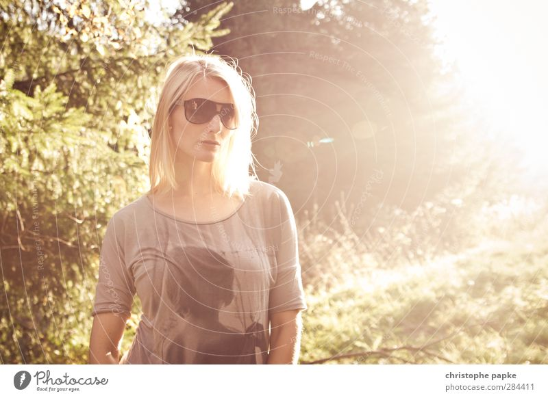 Human being Youth (Young adults) Beautiful Adults Young woman Feminine Style Bright 18 - 30 years Blonde Elegant Cool (slang) Hip & trendy Sunglasses