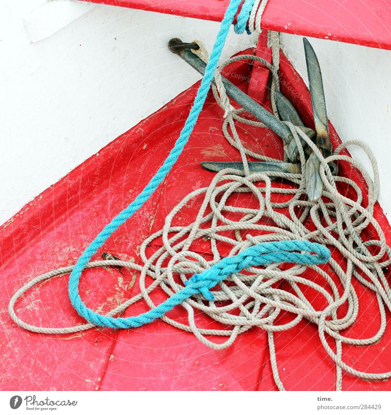 White Red Metal Watercraft Adventure Rope String Bench Dry Plastic Long Under Navigation Chaos Sustainability Sharp-edged