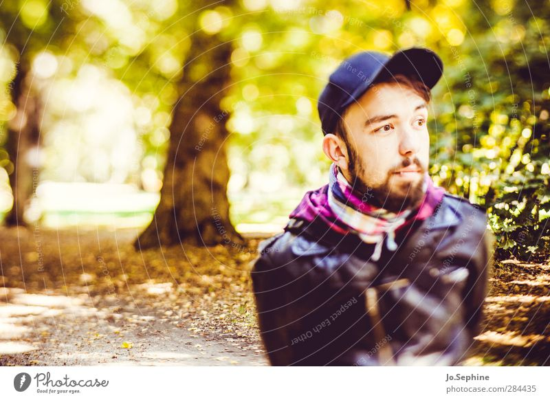 lover of the light Lifestyle Style Trip Human being Masculine Young man Youth (Young adults) Adults 1 18 - 30 years Environment Nature Autumn Park Forest