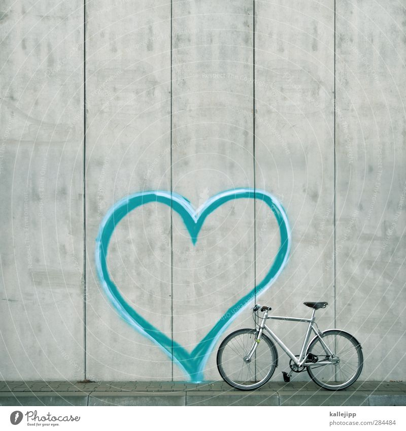 Beautiful Love Graffiti Sports Style Friendship Together Bicycle Leisure and hobbies Heart Elegant Design Concrete Lifestyle Cycling Infatuation