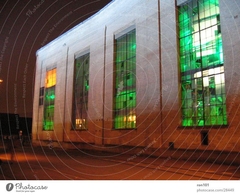 Green Building Lighting Orange Architecture Factory hall