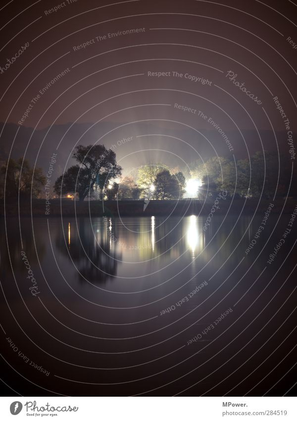 Water Dark Cold Fog Lantern Disco Club Treetop Floodlight Elbe Phenomenon UFO