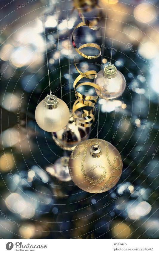 every year Feasts & Celebrations Christmas & Advent Glitter Ball Festive Christmas decoration Christmas fairy lights Moody Anticipation Colour photo