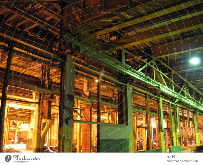 Architecture Steel Parking garage Scaffold Factory hall Steel processing