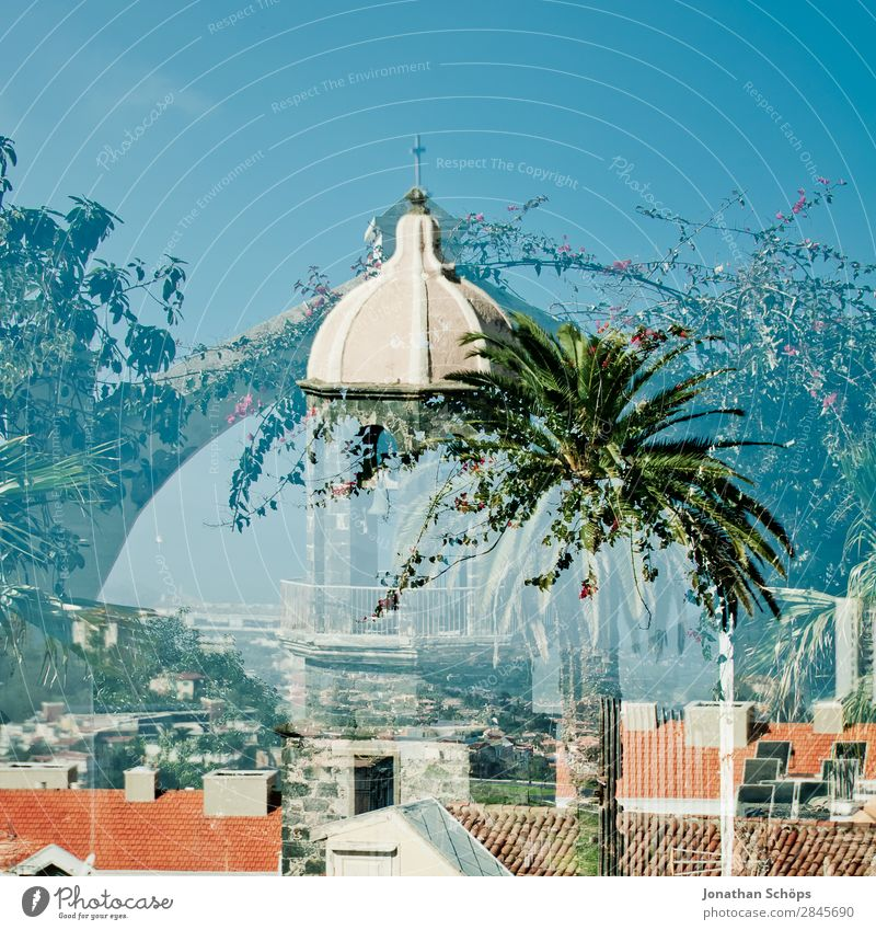 *** 1700 *** Multiple exposure in La Orotava, Tenerife Small Town Esthetic Green Old town Graphic Minimalistic Background picture South Canaries Spain