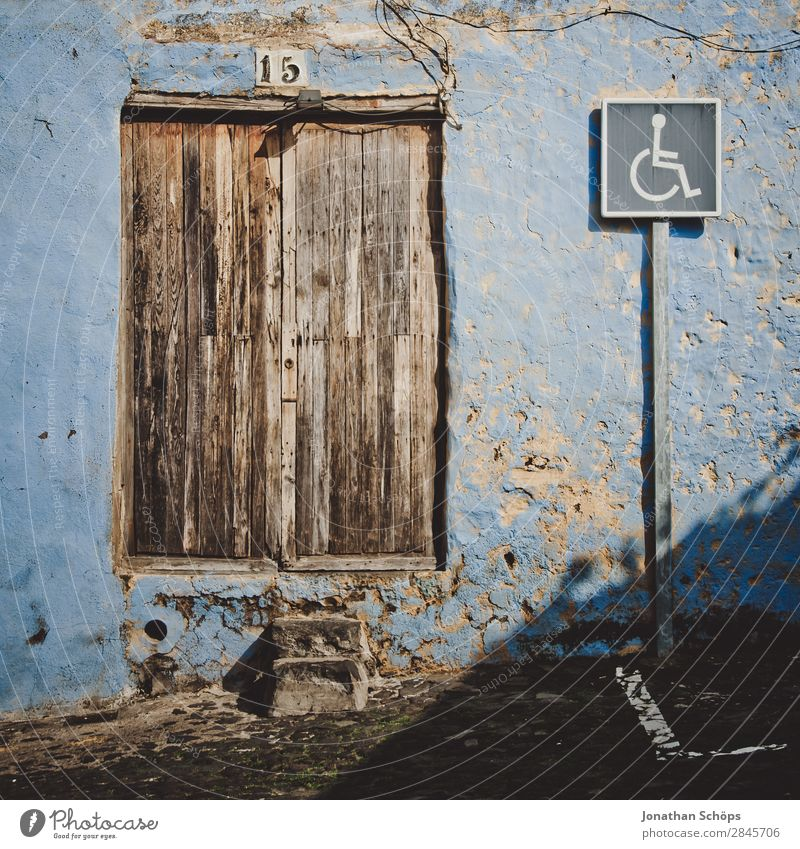 Disabled parking in La Orotava, Tenerife House (Residential Structure) Building Relaxation Facade la orotava Spain Travel photography Archaic Colour photo