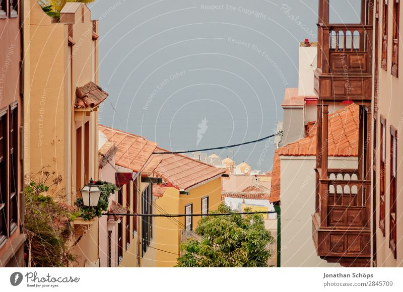 Street in La Orotava, Tenerife la orotava Town Esthetic Canaries Spain Vacation destination Vacation & Travel Travel photography Tourism Colour photo