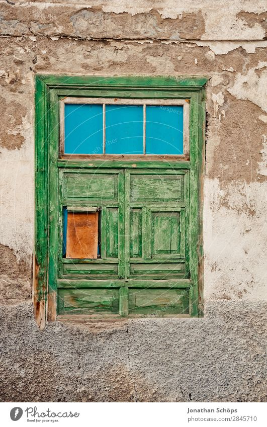 Green House (Residential Structure) Relaxation Travel photography Window Wood Building Facade Door Poverty Simple Old town Village Spain Graphic Small Town