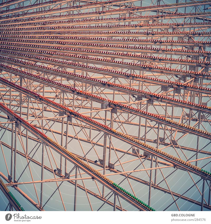 high up Leisure and hobbies Night life Event Feasts & Celebrations Oktoberfest Fairs & Carnivals Outskirts Populated Metal Old Large Kitsch Above Retro Brown
