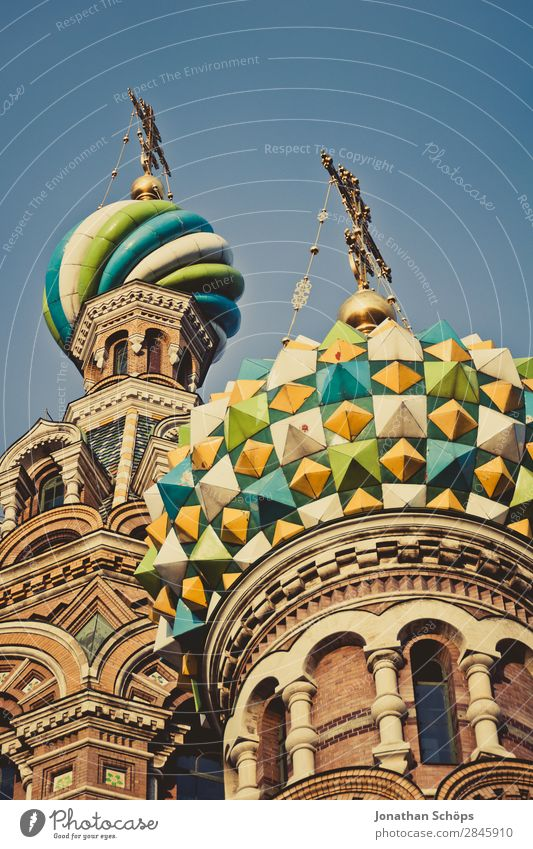 Cathedral of the Resurrection of Christ, Blood Church in St. Petersburg Town Capital city Downtown Manmade structures Building Architecture Esthetic