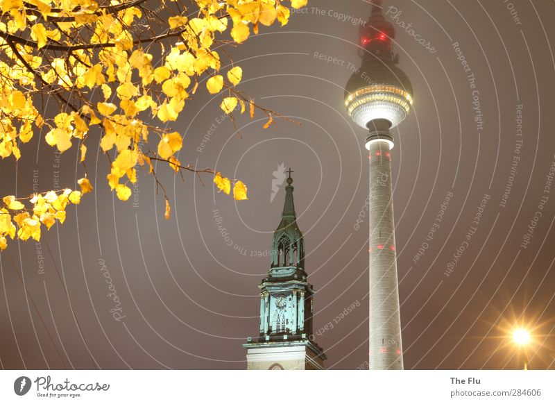 City Yellow Cold Berlin Architecture Gray Building Germany Glittering Modern Church Telecommunications Tower Technology Manmade structures Landmark