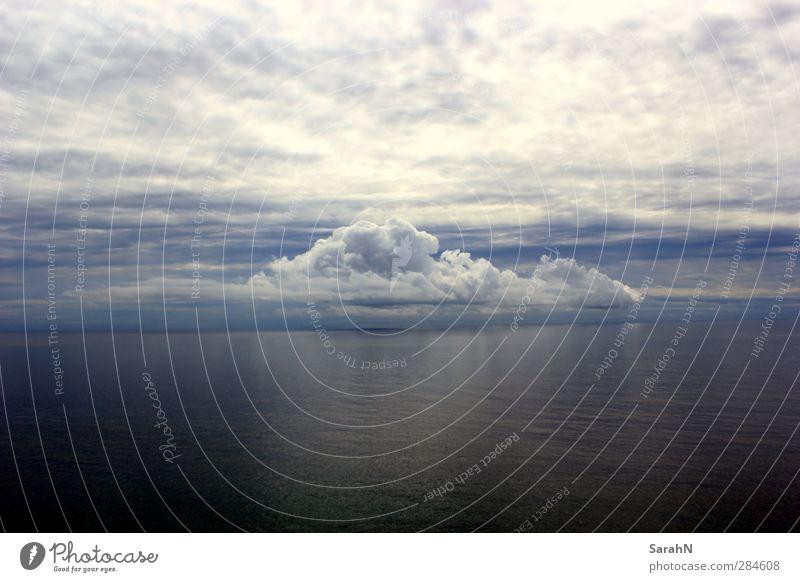 Sky Nature Blue Water Summer Ocean Clouds Landscape Far-off places Environment Dark Coast Gray Sadness Air Horizon