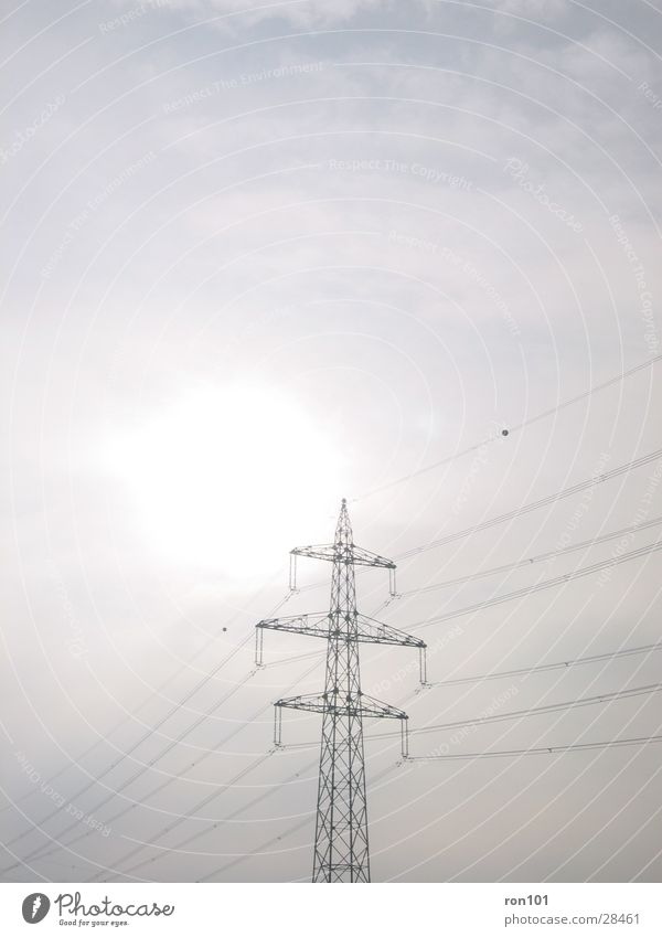 Gray Power Electricity Technology Steel Electricity pylon Transmission lines Electrical equipment High-power current