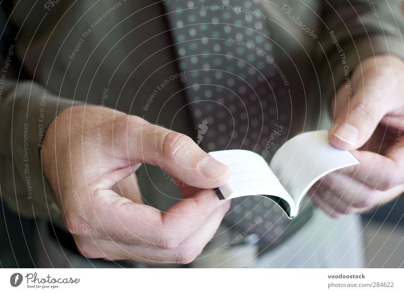 Man Reading Tiny Pocket Notebook Human being Green White Hand Adults Small Body Book Fingers Paper Idea Research 30 - 45 years Blank