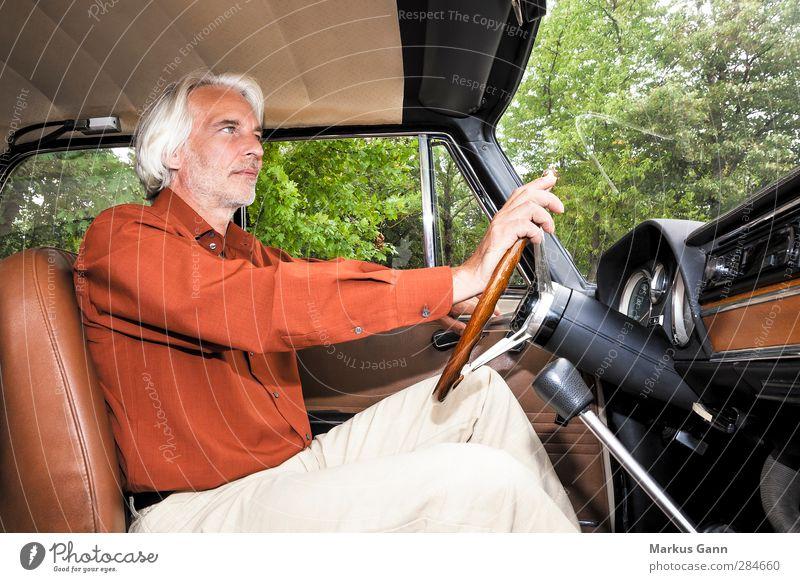 Human being Man Green Adults Style Car Brown Orange Masculine Elegant Lifestyle Driving Male senior Facial hair Vehicle Motoring