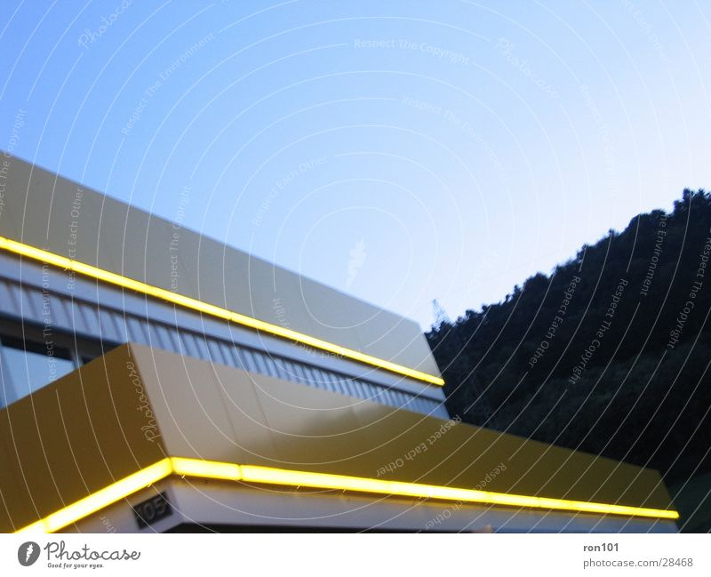 Sky Blue Yellow Architecture Lighting Neon light