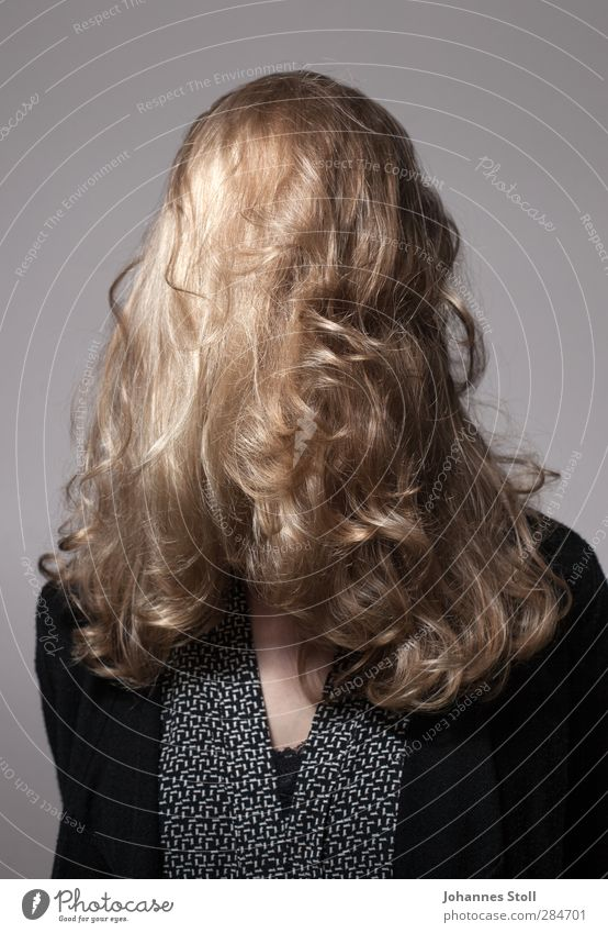 Hair Krishna III Joy Beautiful Hair and hairstyles Feminine 1 Human being Blonde Long-haired Curl Wig Punk Secrecy Dream Identity Puzzle Colour photo