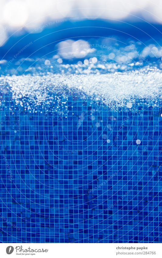 Structure and Chaos Swimming & Bathing Vacation & Travel Summer vacation Swimming pool Air Water Fluid Glittering Cold Wet Blue Underwater photo Air bubble Tile