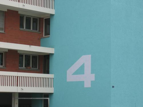 4. House (Residential Structure) House number Digits and numbers Number plate Balcony Building Block Architecture