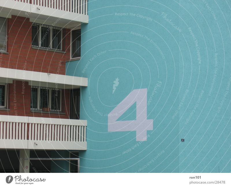 House (Residential Structure) Building Architecture Digits and numbers 4 Balcony Block House number Number plate