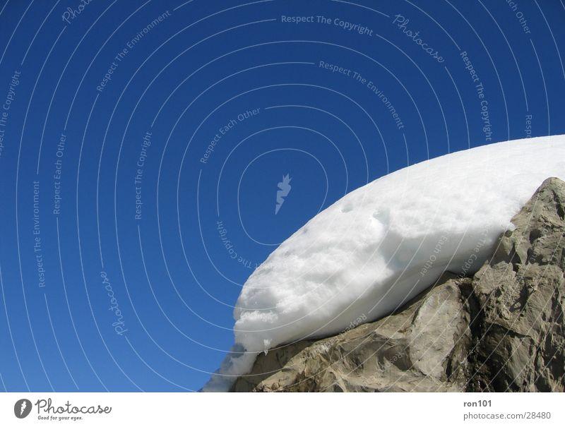 snowcap White Gray Snow Rock Sky Blue Stone