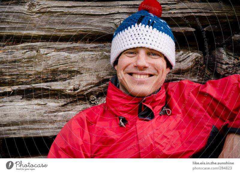 being outside makes you happy. Well-being Contentment Senses Relaxation Vacation & Travel Trip Adventure Winter vacation Masculine Young man