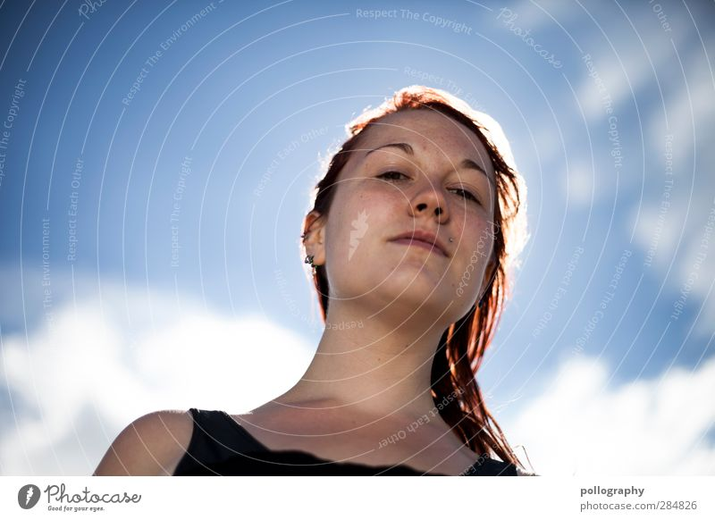 ô_ô Summer Human being Feminine Young woman Youth (Young adults) Woman Adults Life 1 18 - 30 years Sky Clouds Weather Beautiful weather Emotions Acceptance