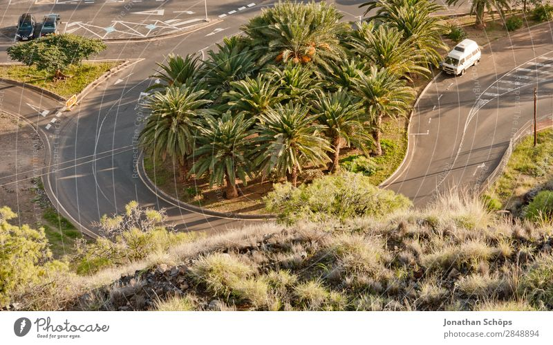 Serpentine in San Andrés, Santa Cruz de Tenerife, Tenerife Winding road Curve Transport Car Driving Palm tree Nature Landscape San Andres