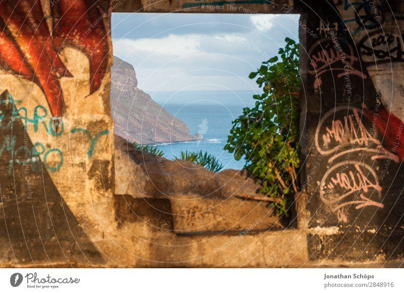 Window view on the coast of Tenerife Nature Joie de vivre (Vitality) Enthusiasm Euphoria Brave Truth Authentic Hope Religion and faith Belief Death Illuminate