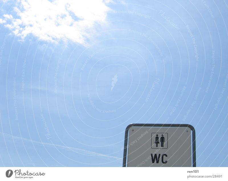Ladies / Gents Lady White Clouds Leisure and hobbies gents Toilet Signs and labeling Blue Sky Sun