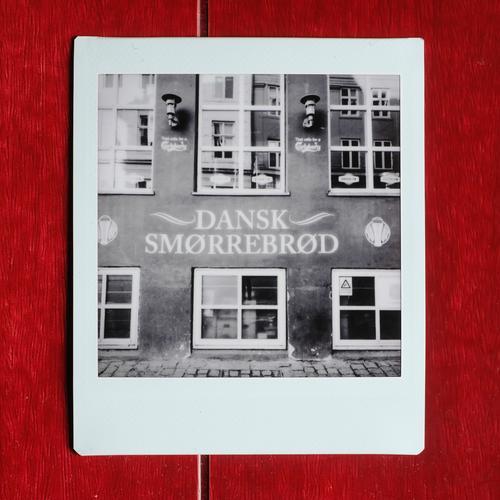 delicacies Facade Retro Danish Denmark Smørrebrød Black & white photo Eating Exterior shot Lomography Polaroid Deserted Copy Space top