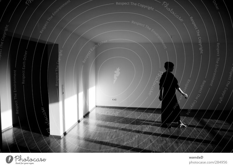 Woman Calm Adults Dark Wall (building) Freedom Think Going Body Contentment Arrangement Elegant Modern Living or residing Future Target