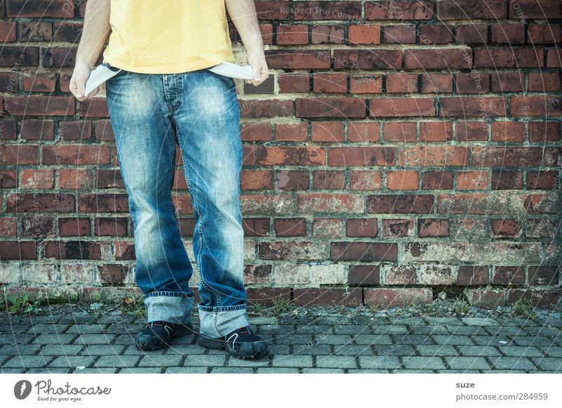 Human being Man Youth (Young adults) Blue Hand Red Adults Wall (building) Wall (barrier) Style Fashion 18 - 30 years Footwear Arm Leisure and hobbies Masculine