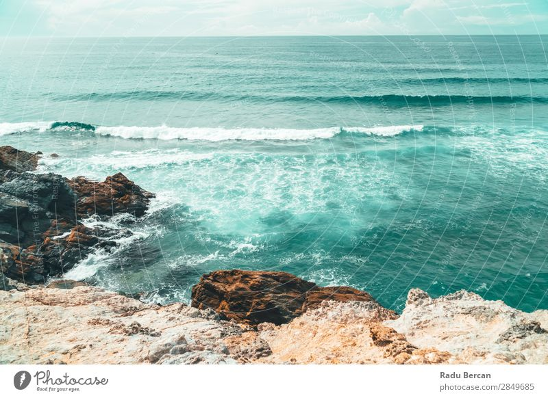 Beautiful Landscape And Seascape View Of Ocean In Portugal Vacation & Travel Nature Summer Blue Water Far-off places Beach Warmth Environment Coast Style