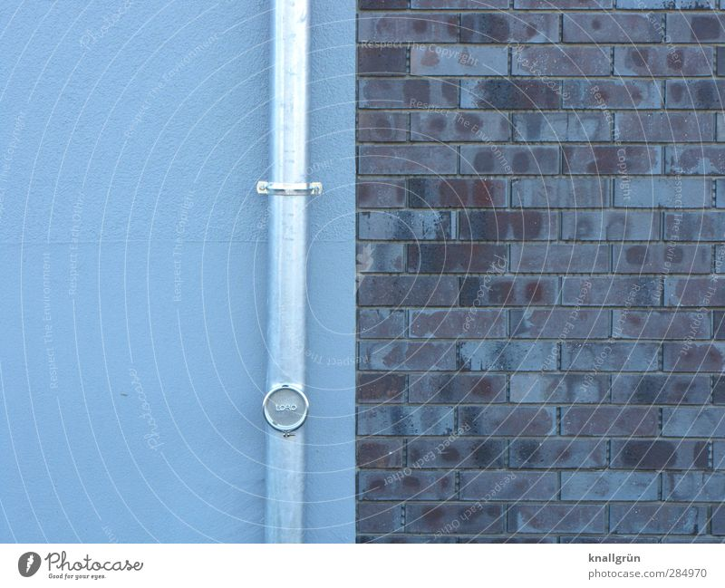 Blue City Colour House (Residential Structure) Wall (building) Architecture Gray Wall (barrier) Building Facade Beginning Living or residing Planning New Brick Silver