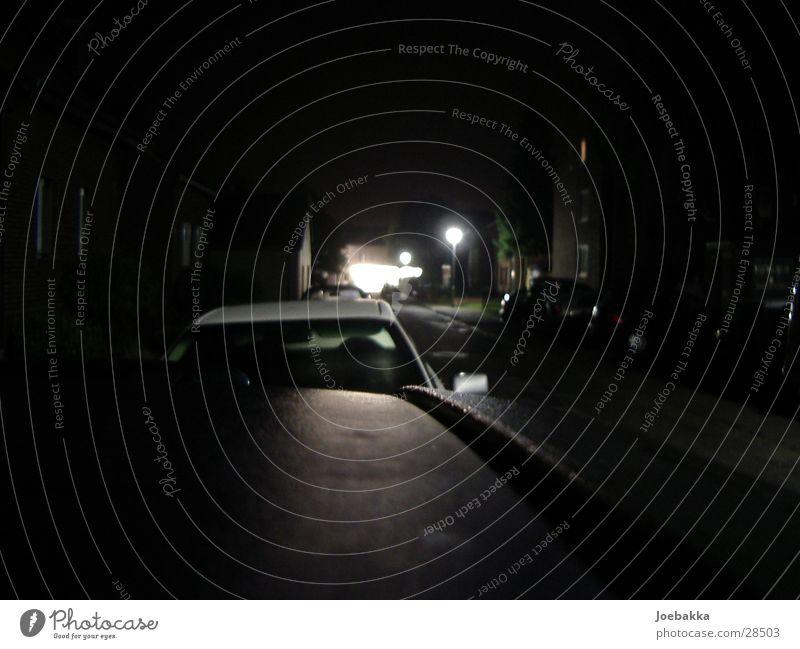 DarkTown Night Lantern Roof Long exposure Car Street Far-off places