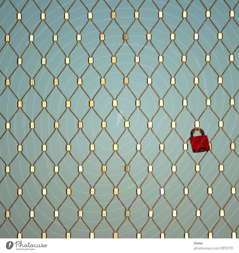 Happy place of worship in spe Lock Grating Valentine's Day Wedding Ritual Gold Red Expectation luck Sustainability Network Insurance Colour photo Exterior shot