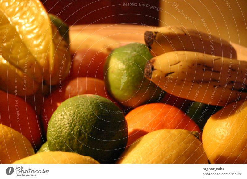 common fruit Lemon Banana Fruit salad Multicoloured Maracuja Healthy Lime Orange