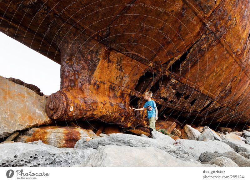 flotsam and jetsam Vacation & Travel Tourism Adventure Boy (child) 8 - 13 years Child Infancy Rock Coast Beach Ocean Atlantic Ocean Inisheer Ireland Europe