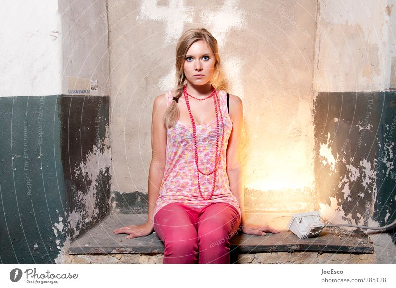 #233498 Lifestyle Style Flat (apartment) Cellar Woman Adults 1 Human being 18 - 30 years Youth (Young adults) Fashion Accessory Observe Relaxation To hold on