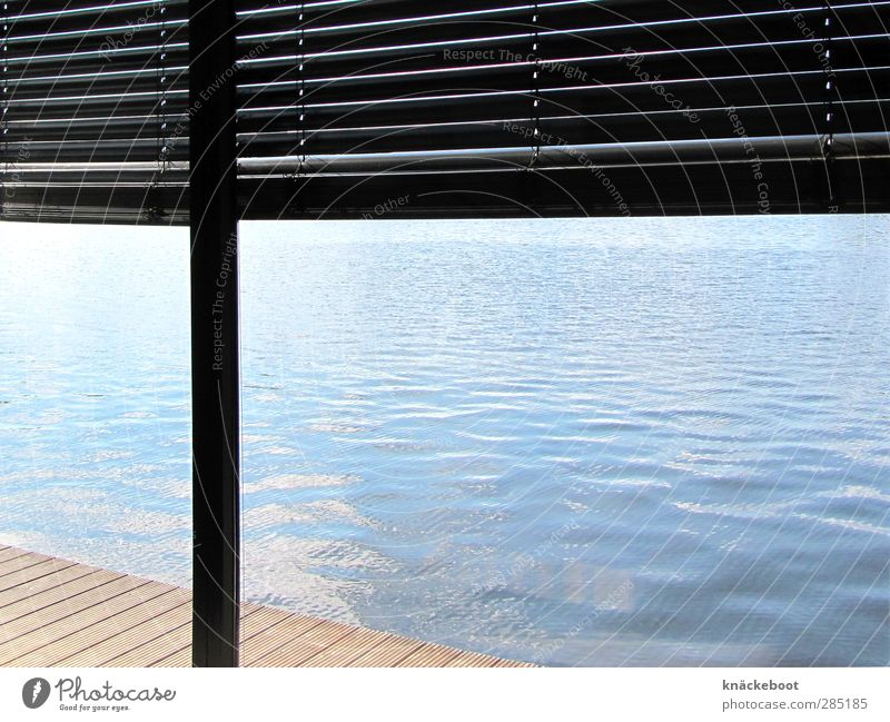 built close to the water Living or residing Flat (apartment) House (Residential Structure) Dream house Room Water Summer Waves Coast Lake Terrace Simple Bright