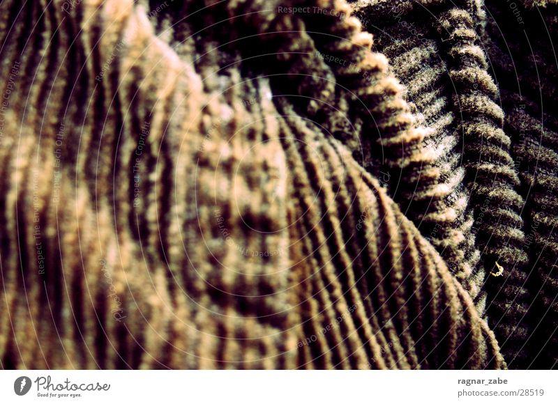 corduroy Brown Pants Furrow Stitching Macro (Extreme close-up) Close-up Detail